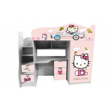 Кровать чердак для девочки Китти Бесплатная доставка!