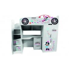 Кровать чердак для девочки Минни Маус - 2 Бесплатная доставка!