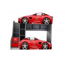 Двухъярусная кровать для мальчиков красные Мерседесы  Доставка бесплатно!