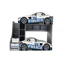 Двухъярусная кровать для мальчиков Полицейские машины Доставка бесплатно!