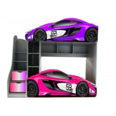 Двухъярусная кровать машинка McLaren