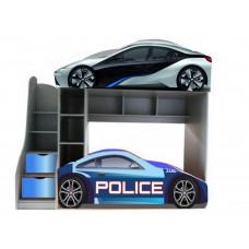 Двухъярусная кровать машинка БМВ - Полиция С бесплатоной доставкой!