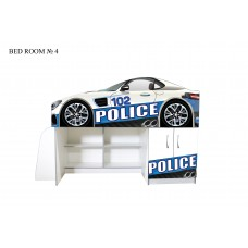 Кровать чердак АВТОДОМ Полиция