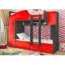 Двухъярусная кровать со шкафом Бест