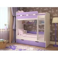 Двухъярусная кровать для девочек Юниор компакт лаванда