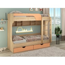 Двухъярусная кровать Дуэт оранж