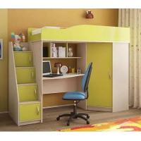 """Детская кровать-чердак модель """"Квартет-2"""". Кровать комната."""