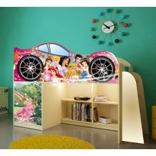 Кровать чердак для девочки Disney Принцессы