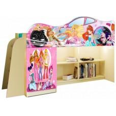 Кровать чердак для девочки WINX