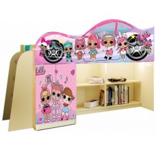 Кровать чердак для девочки LOL