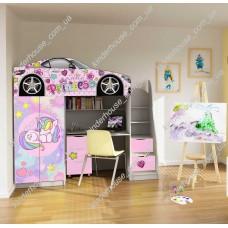 Кровать чердак для девочки Единорог Бесплатная доставка!
