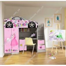 Кровать чердак для девочки  Принцесса Бесплатная доставка!