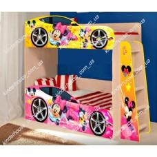 Двухъярусная кровать для девочек Минни Маус