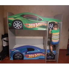 Двухъярусная кровать машина Хот Вилс