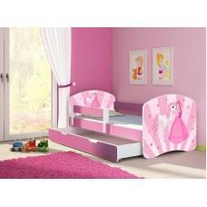 Детская кровать с бортиками Принцесса. Кровать для девочки
