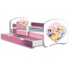 Детская кровать для девочки о съемным бортиком Принцессы Дисней