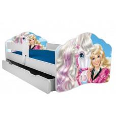 Детская кровать с бортиками. Кровать для девочки БАРБИ