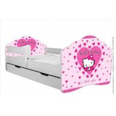 Детская кровать с бортиками. Кровать для девочки Китти