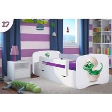 Детская кровать с бортиками. Кровать для мальчика Динозаврик