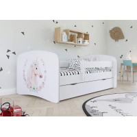 Детская кровать с бортиками. Кровать для девочки Единорог