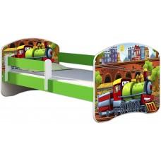 Детская кровать с бортиками. Кровать для мальчика Поезд
