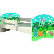 Детская кровать с бортиками. Кровать для мальчика Дино