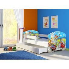 Детская кровать с бортиками. Кровать для мальчика Машины