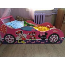 """Детская кровать-машина Минни """"Бант"""""""