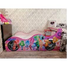 Детская кровать-машина для девочки Фиксики Доставка бесплатно!