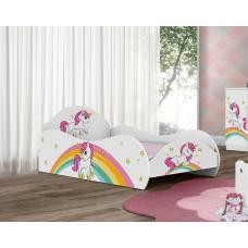 Кровать для девочки Единорог на радуге