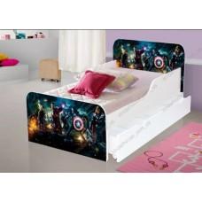 Детская кровать для мальчика Супер герои АГОРА Бесплатная доставка!
