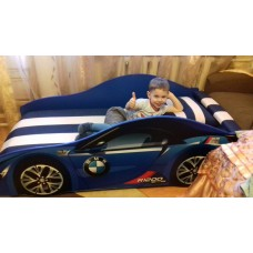 В наличии на складе! Кровать-машина БМВ Бренд+ синяя с бесплатной доставкой!