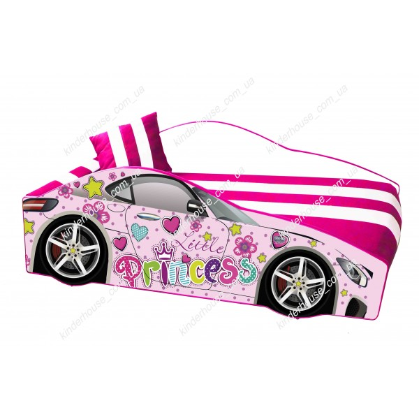 Кровать машина розовая для девочки Принцесса подушка в подарок! Бесплатная доставка!
