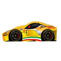 Кровать машина Ferrari желтая с бесплатной доставкой!