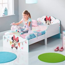 Кровать для девочки Минни Маус белая