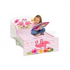 Детская кровать для девочки Фламинго