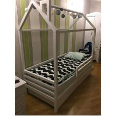 Детская кровать-домик с ящиками Грей . Ліжко-будиночок