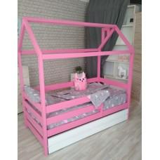 Детская кровать-домик для девочки с ящиками Pink . Ліжко-будиночок