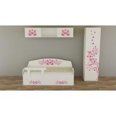 Кровать диван для девочки Бабочки. Кровать-диван с ящиком