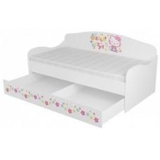 Кровать диван с ящиком для девочки Китти