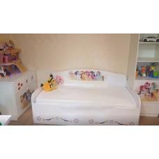 Кровать диван с ящиком для девочки My Little Pony