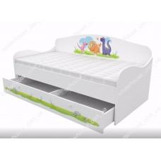 Кровать диван для мальчика ДИНО