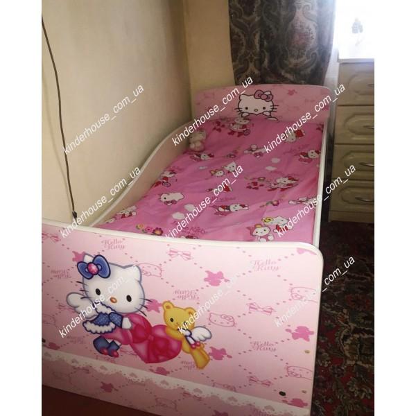Детская кровать с бортиками и ящиком