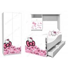 Детская кровать для девочки Hello Kitty Доставка бесплатно!