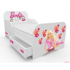 Детская кровать с бортами Барби-1