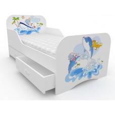 Детская кровать Дельфины