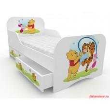 Детская кровать с бортами Винни Пух