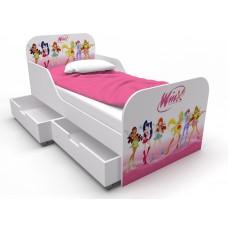 Детская кровать для девочки Винкс