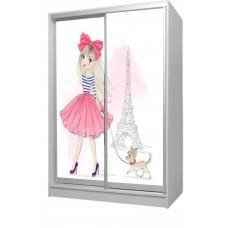 Шкаф купе в детскую с фотопечатью Девочка в Париже Бесплатная доставка!