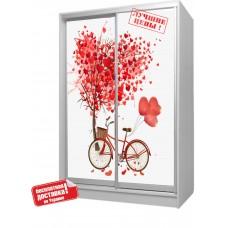 Шкаф купе в детскую с фотопечатью Велосипед Бесплатная доставка!